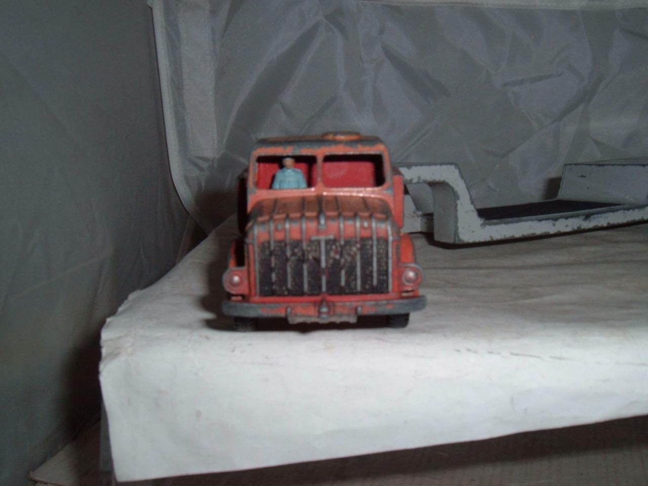 DINKY TOYS THORNYCROFT ANTAR LOW LOADER TRANSPORTER LORRY VINTAGE USED
