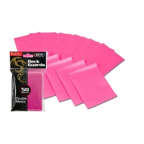 100 Matte Pink MTG BCW Deck Guards CCG MTG Pokemon Gaming Card Sleeves 2 Packs