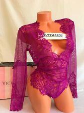 NWT Victoria's Secret~Dream Angels Plunge Teddy~Wicked Bodysuit~Long Sleeve~Sz L