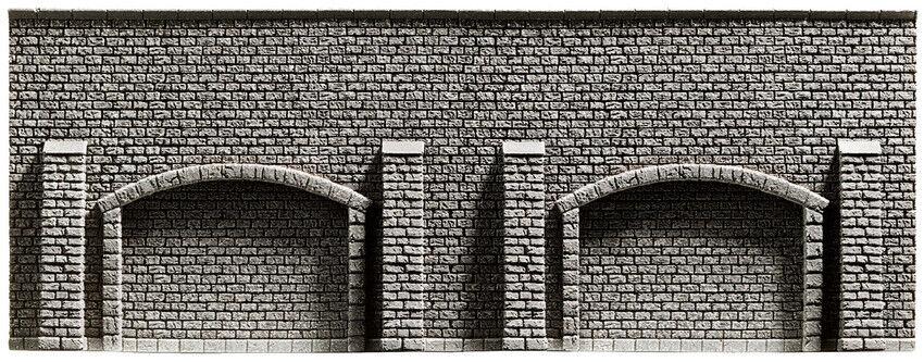 NOCH   58059   Arkadenmauer, extra lang, 66,8 x 12,5 cm     Modelleisenbahn