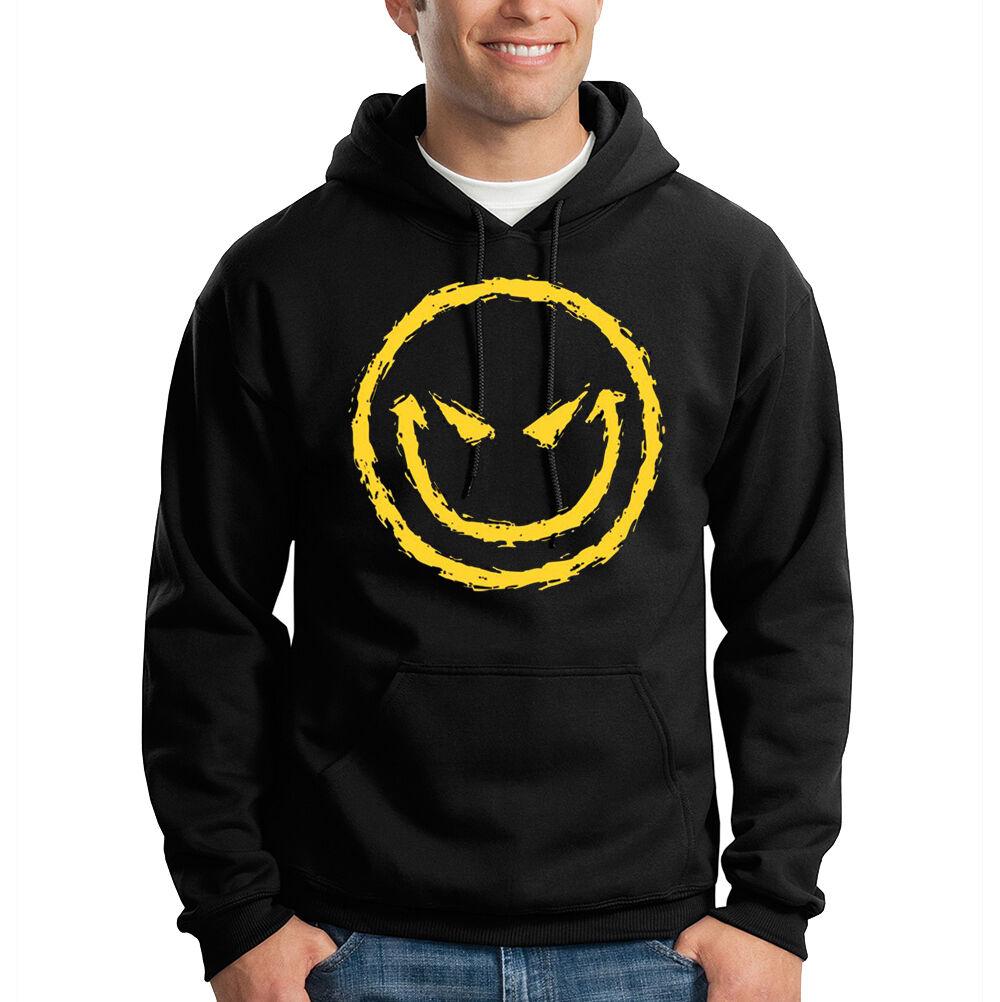 Big Gelb Smiley Face Funny Humor Hooded Sweatshirt Hoodie