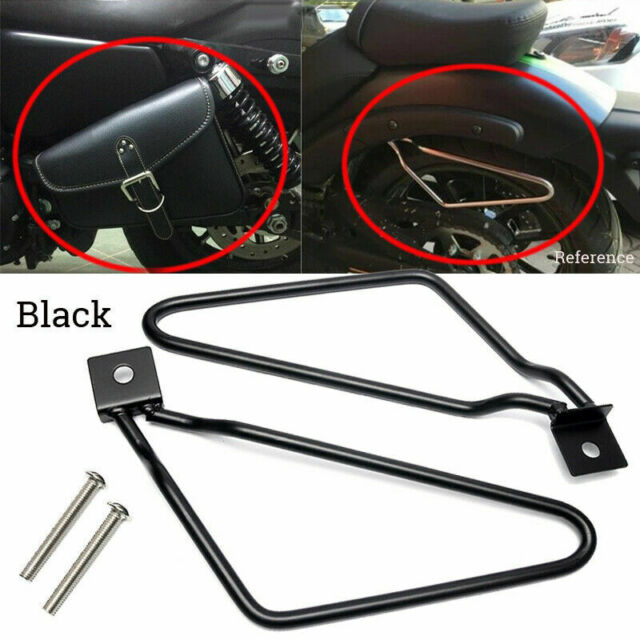 Universal Motorcycle Saddle Bag Support Bar Mount Bracket For Harley Accessories