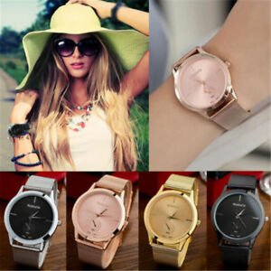 Hot-Women-Wrist-Watch-fashion-Bracelet-Stainless-Steel-Unisex-Analog-Quartz-New