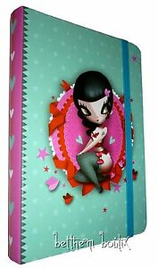 Goth-Carnet-de-Notes-La-Marelle-Adolie-Day-Pin-Up-VERT-amp-ROSE-gothique