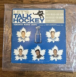 1964 Let's Talk Hockey WITH INSERT Toronto Maple Leafs LP Album