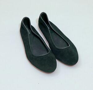 EUC-Crocs-Lina-Suede-Black-Ballet-Flats-US-9W