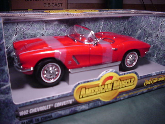 1962 Corvette Roadster Red 1 18 Ertl American Muscle 7835