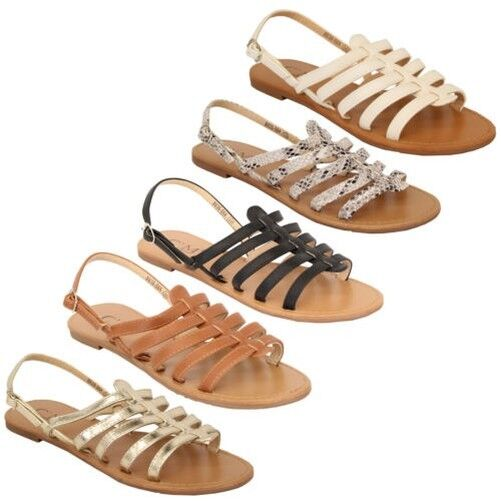 Gentlemen/Ladies Ladies Open Womens Toe Gladiator Flat Sandals Womens Open Strap Buckle Shoes Party Summer Beautiful color Stylish and fun Highly appreciated and widely trusted in and out GW1593 7649c4