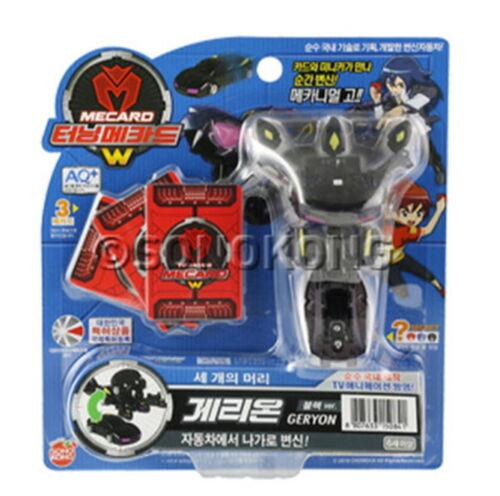 TURNING MECARD W GERYON BLACK Transformer Pop up CAR ROBOT Toy //Korean Sonokong