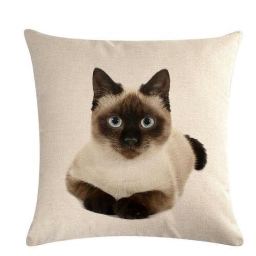 Sofa Home Decor Cartoon Rabbit Linen Throw Pillow Case Cushion Cover LC