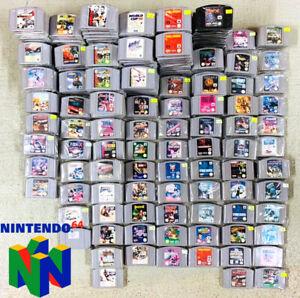 Nintendo 64 locura 90 juegos grandes n64 módulo selección mario NHL Zelda Turok