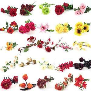 Bulk lot of 100x assorted flower sprays artificial silk flowers image is loading bulk lot of 100x assorted flower sprays artificial mightylinksfo