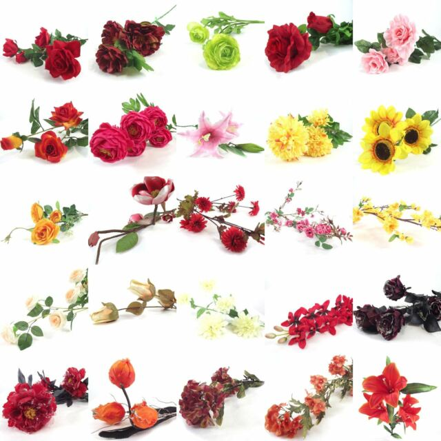 Bulk x assorted flower sprays artificial silk flowers wholesale bulk lot of 100x assorted flower sprays artificial silk flowers wholesale job mightylinksfo