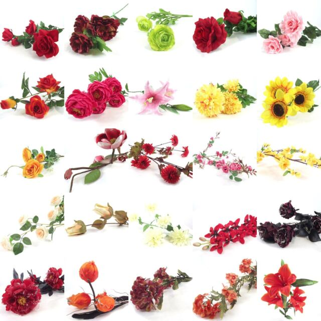Bulk X Assorted Flower Sprays Artificial Silk Flowers Wholesale