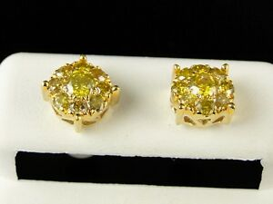 Image Is Loading 10k Mens Las Yellow Gold 8 Mm Canary