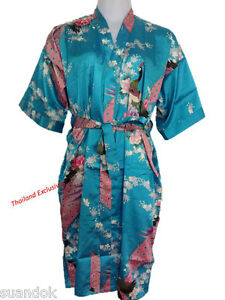 ee8895e3cd Ladies Silk Kimono. Dressing Gown Robe One Size fits regular ...