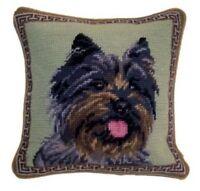 Cairn Terrier Dog Needlepoint Pillow 10x10