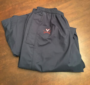 Virginia-UVA-Cavaliers-Men-039-s-Swimming-Team-Issued-Nike-Fit-Blue-Warmup-Pants-XL