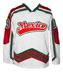 173d907a0 Image is loading Custom-Name-Mexico-Hockey-Jersey-New-White-Any-