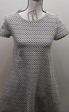 Zara Fall Winter Collection Women Tent Dress Black White Geometric Small Cotton