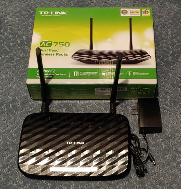 TP-Link Archer C2 AC900 Dual Band Wireless Gigabit Router ...