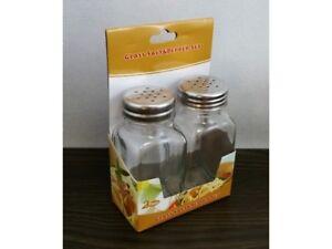 2-10-Stk-Salz-und-Pfefferstreuer-aus-Glas-und-Edelstahl-Salz-amp-Pfeffer-Gewuerze-NEU