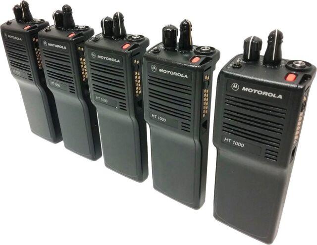 5X Motorola HT1000 Two Way Radio VHF 136-174 MHz 16-Channel Narrowband Portables
