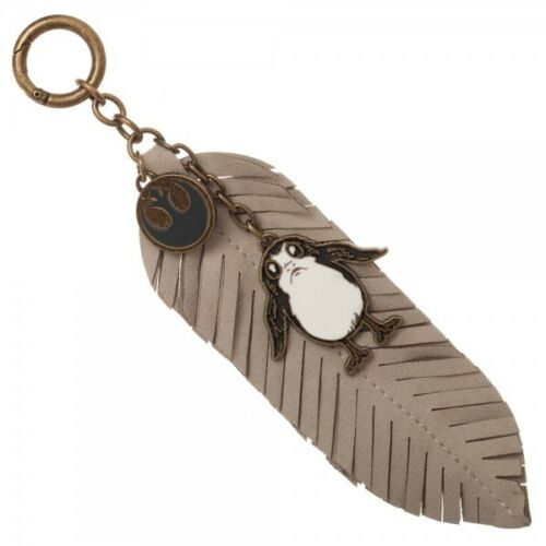 Star Wars Episode 8 PORG Feather Keychain Key Chain PU Leather Metal OFFICIAL