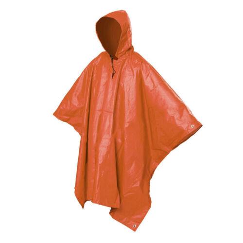 Poncho Light Rain Coat Waterproof Festival Camping Hiking Hooded Cape Tarp Gear