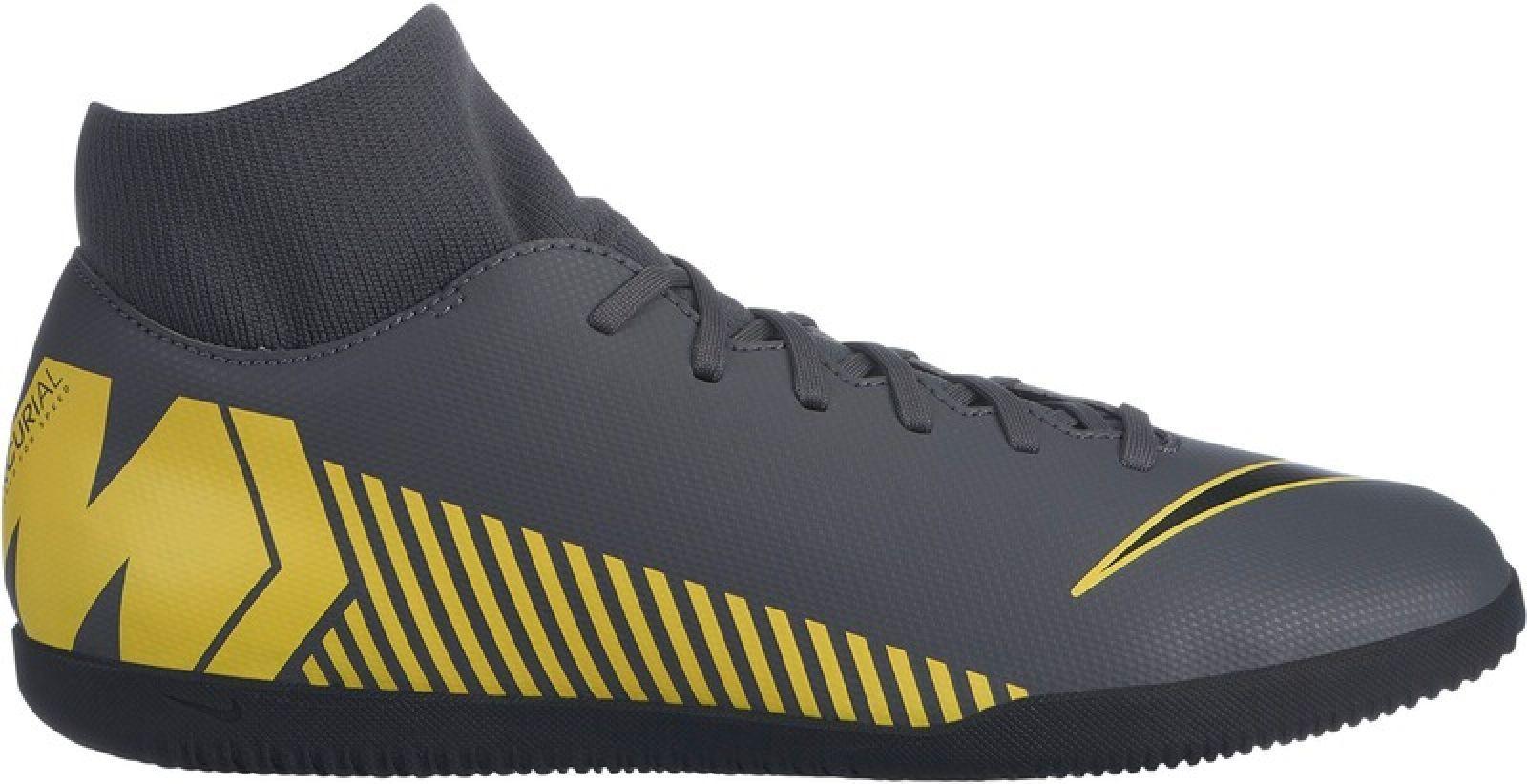 Nike señores alemán, Color botas de fútbol súperflyx 6 club IC gris amarillo
