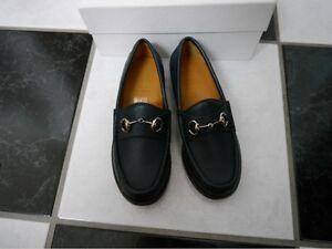 b0887ec86a89 NIB 100% AUTH Gucci kids horsebit loafer in navy blue leather 257810 ...