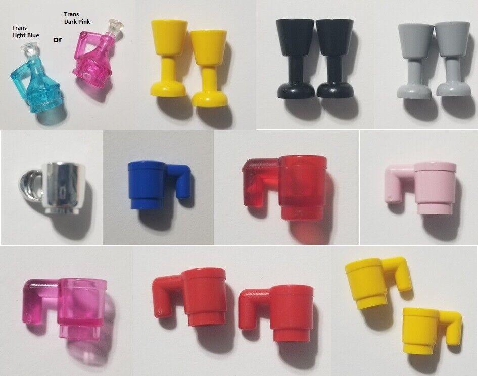 Lego 4x Mug Glass Cup Yellow 3899 6264 28655 Lot Minifigures tool