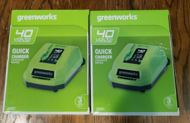 GREENWORKS 40V LITHIUM MAX BATTERIES BAF722 QUICK CHARGER ONLY 29482 NEW