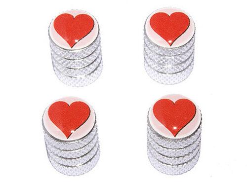 Heart Love Tire Rim Valve Stem Caps Aluminum