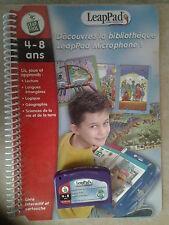 CONSOLE  LEAPpad DE LEAP FROG DECOUVREZ LA BIBLIOTHEQUE LEAPAD MICROPHONE TBE