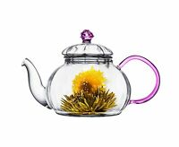 Tea Beyond Heat Resistant Glass Teapot Juliet 20-ounce Clear 20... Free Shipping