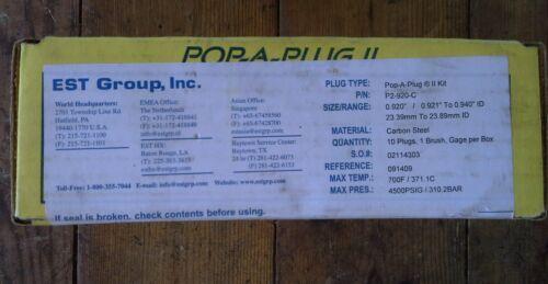 Lot of 10 Pop A Plug II P2-920-C KIT EST Curtiss Wright Heat Exchanger Tube Plug