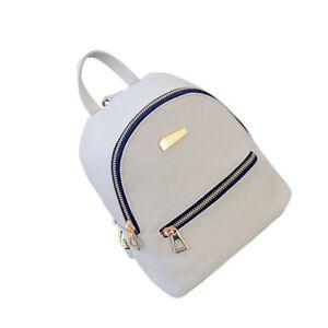 Women-Girls-PU-Leather-Mini-Backpack-Students-School-Shouder-Bag-Handbag
