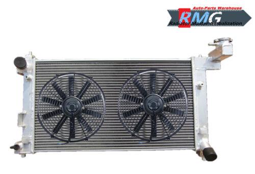 Fan 2Row Aluminum Radiator Fit For 2003-2007 Toyota Corolla 1.8L 2004 2005 2006