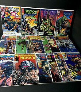 MARVEL-COMICS-PRESENTS-72-83-WEAPON-X-1-4-Complete-Wolverine-Lot-1991-VF-NM
