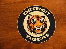"Vintage Detroit Tigers Old Logo Bumper Sticker MLB Baseball NOS 3"" Round"