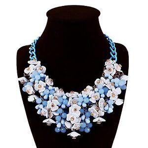 Halskette-Abend-Kette-Statementkette-Charms-Necklace-Collier-L451