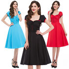Womens Vintage Retro 50's Swing Party Pinup Prom Evening Tea Dress