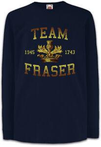 Team-Fraser-Kinder-Langarm-T-Shirt-Schottland-Wappen-Outlander-Jamie-Claire
