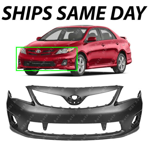 NEW Primered Front Bumper Cover for 2011-2013 Toyota Corolla S and XRS TO1000373