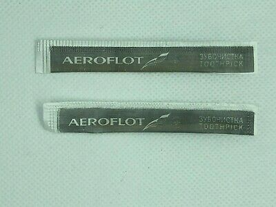 2 Buy One Give One Conscientious Aeroflot Russian Airlines Toothpicks
