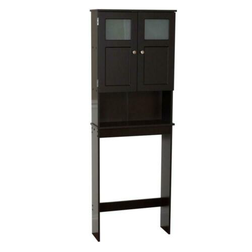 Zenna Home Bathroom Storage Cabinet 2 Door Over The Toilet Spacesaver Espresso