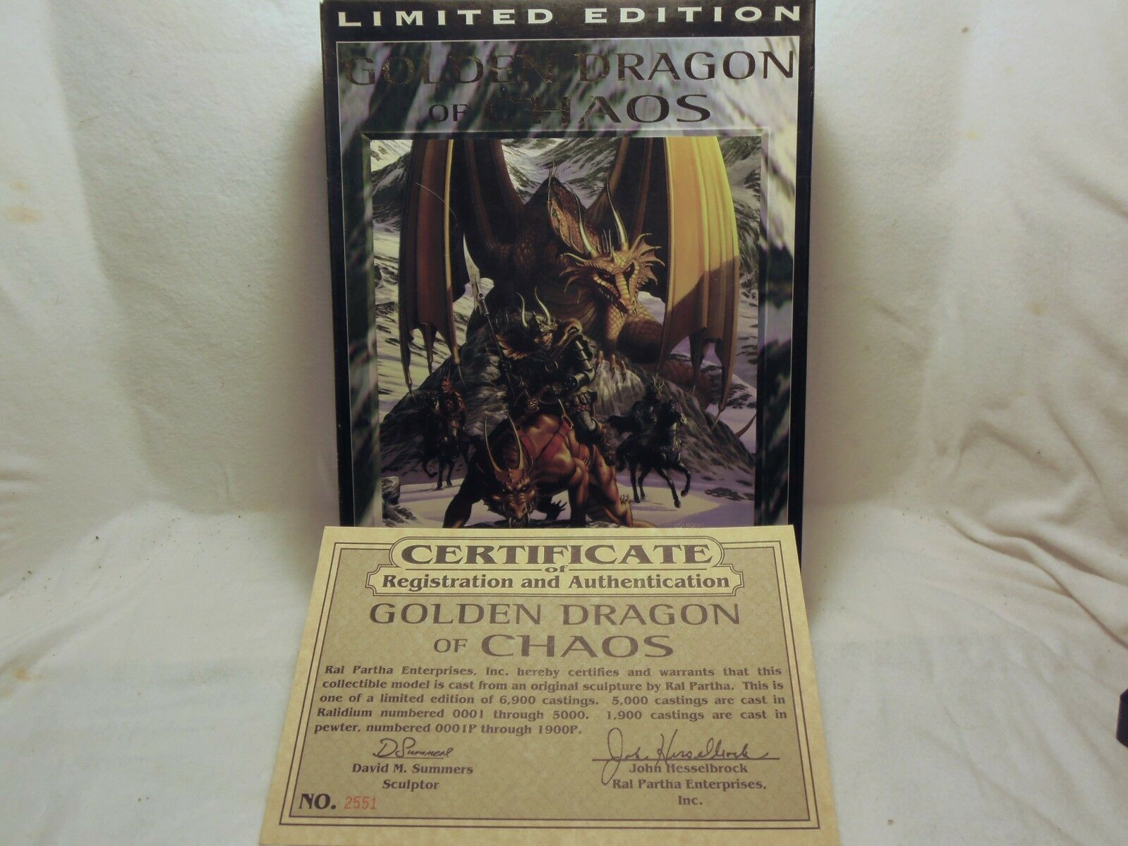 Ral Partha, The golden Dragon Dragon Dragon of Chaos - OOP - 01-507 - of  5000 Castings e7e2a2