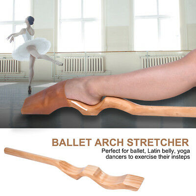 New Wooden Ballet Foot Stretcher Arch Enhancer Gymnastics Dance Elastic Band ST