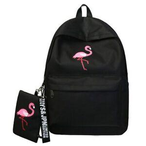 Flamingo-Back-Pack-Girls-Women-Backpack-School-Ruck-Sack-Bird-Fashion-Style-NEW